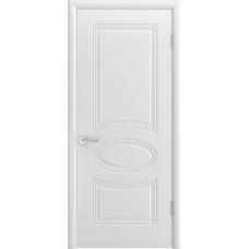 Ульяновская дверь Багет-1С белая эмаль  ДГ