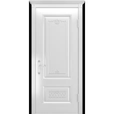 Ульяновская дверь Британия-3 белая эмаль ДГ