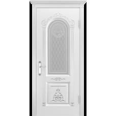 Ульяновская дверь Ода-3 белая эмаль ДО