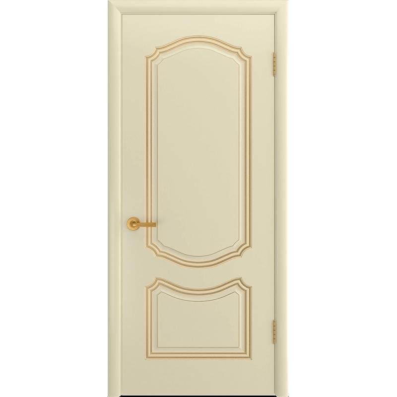 Ульяновская дверь Премьера-1С слоновая кость патина золото ДГ