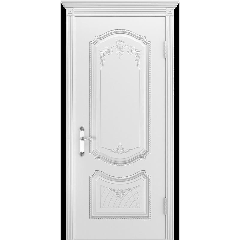 Ульяновская дверь Премьера-3 белая эмаль ДГ
