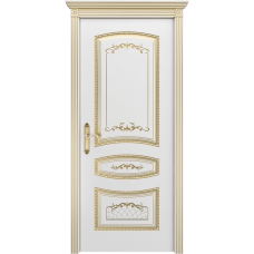 Ульяновская дверь Соната белая эмаль патина золото ДГ