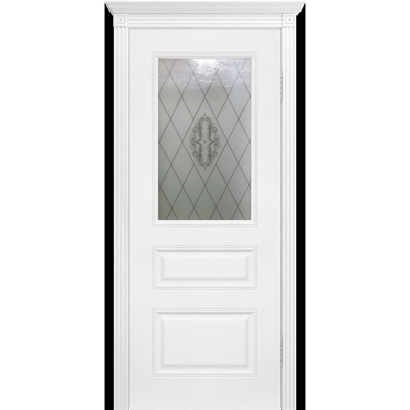 Ульяновская дверь Турин белая эмаль ДО