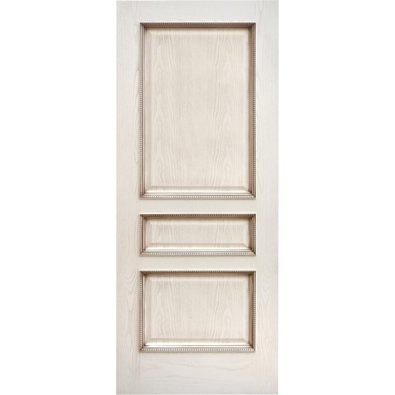 Ульяновская дверь Альба ясень карамельный с патиной ДГ
