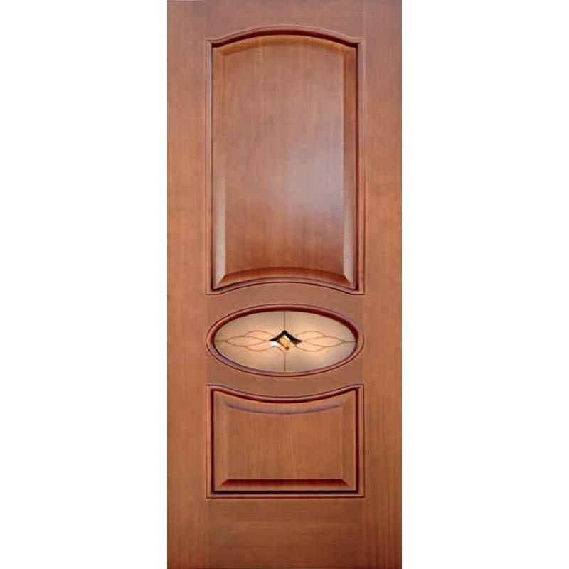 Ульяновская дверь Соренто тёмный анегри ДГО (частичное остекление)