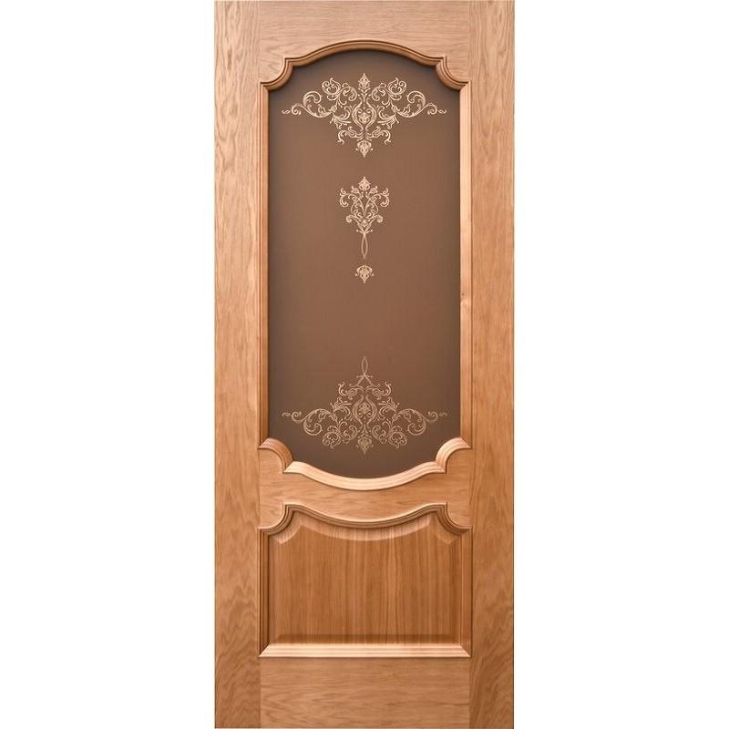 Ульяновская дверь Венеция-3 натуральный дуб ДО
