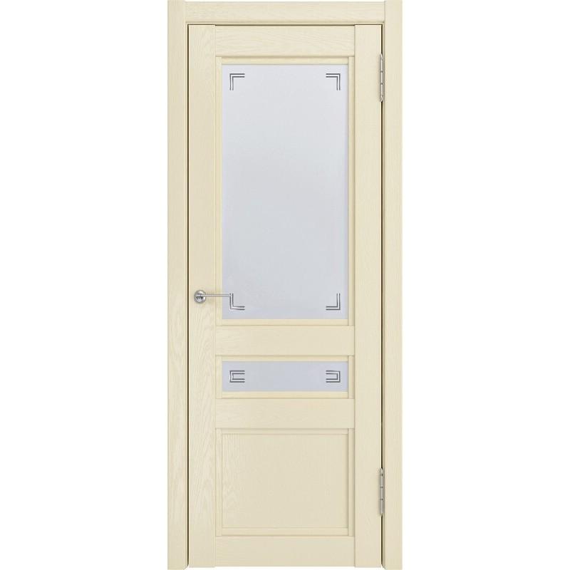 Межкомнатная дверь экошпон K-2 ДО айвори софтач