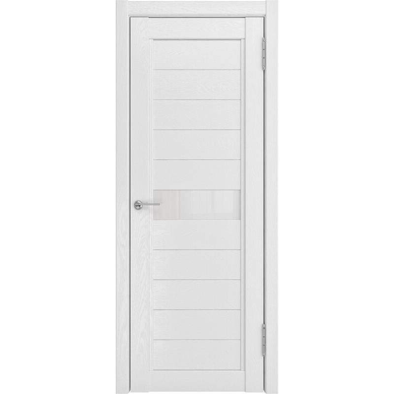 Межкомнатная дверь экошпон LH-1 белый снег софтач