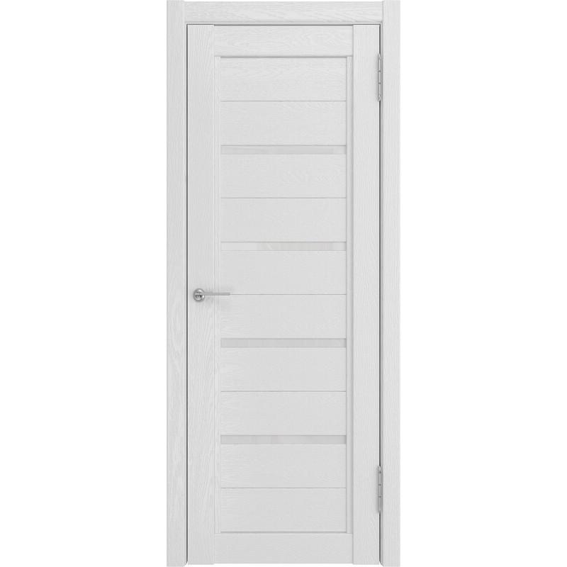 Межкомнатная дверь экошпон LH-4 белый снег софтач