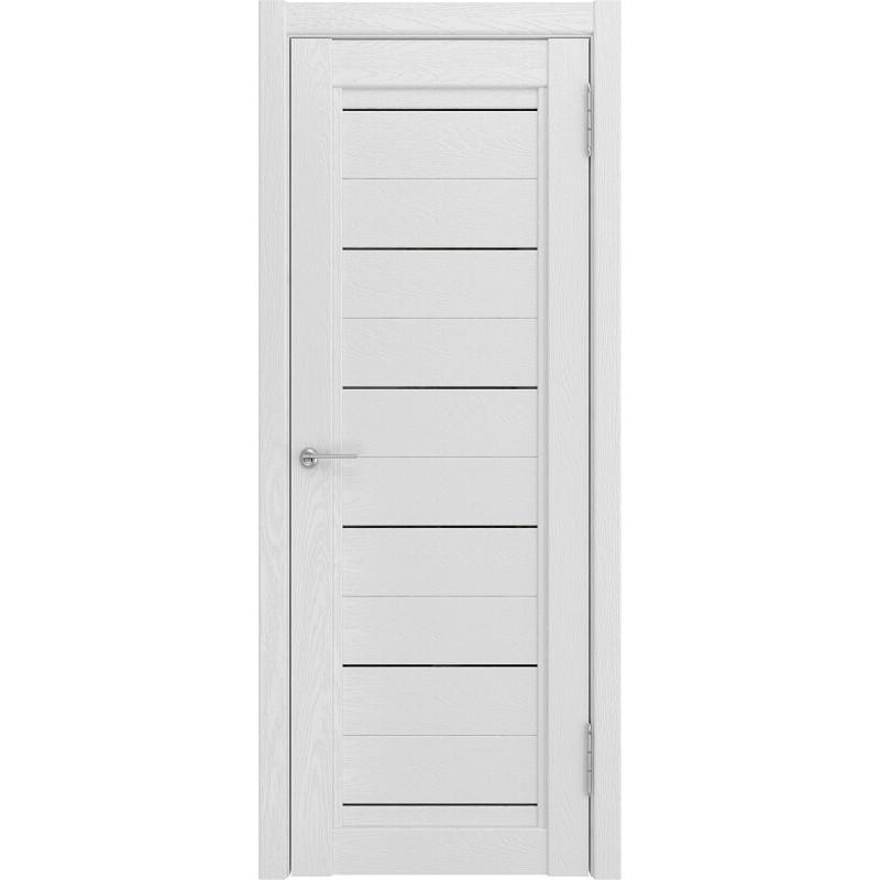 Межкомнатная дверь экошпон LH-6 белый снег софтач