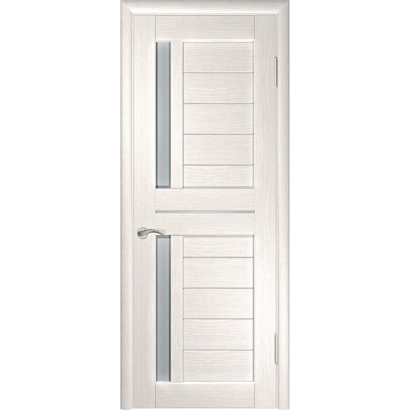 Межкомнатная дверь экошпон ЛУ-27 белёный дуб