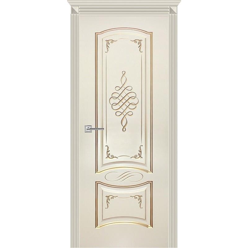 Дверь Карина-11 эмаль ваниль патина перламутр ДГ