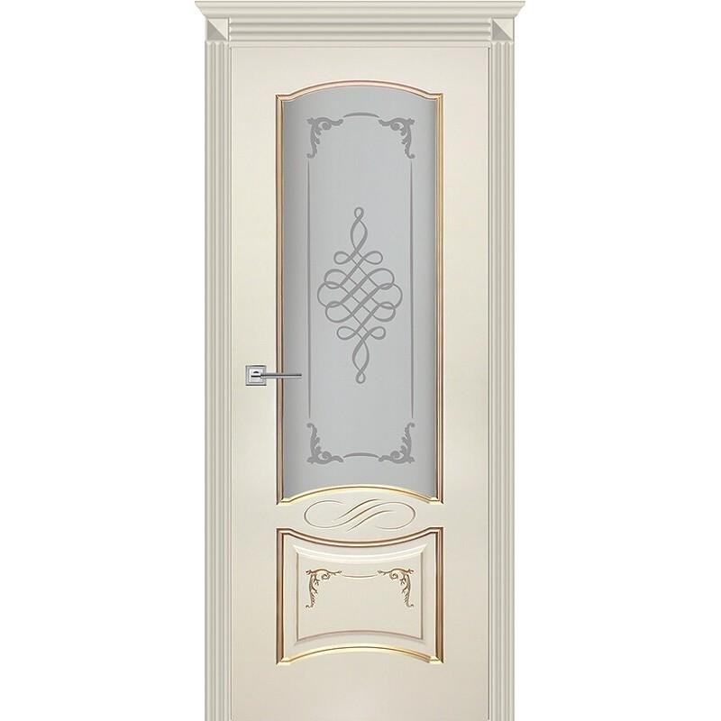 Дверь Карина-11 эмаль ваниль патина перламутр ДО