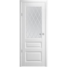 Межкомнатная дверь Турин-4 белая эмаль ДО
