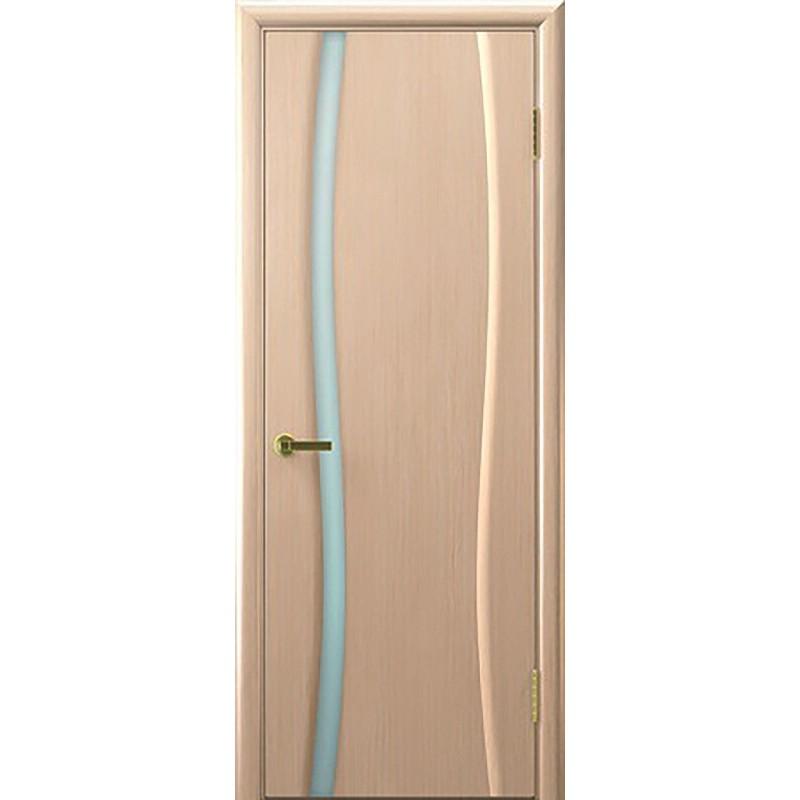 Дверь ульяновская Диадема-1(Комфорт) белёный дуб ДО