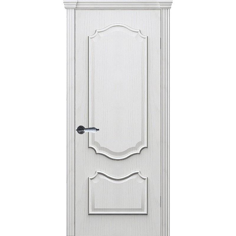 Ульяновская дверь Рубин-2 дуб молочный ДГ
