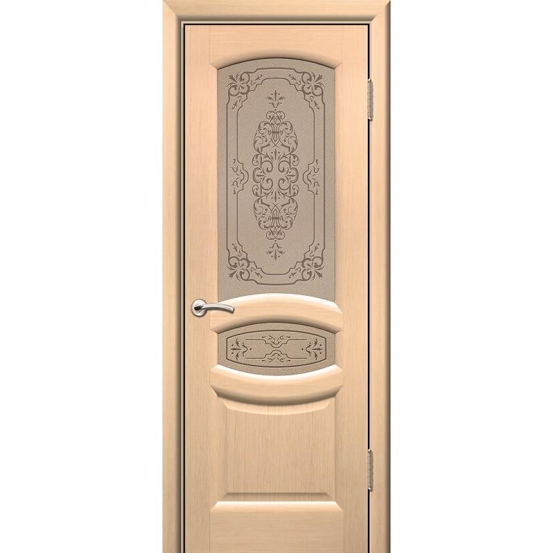 Дверь ульяновская Топаз(Комфорт) белёный дуб ДО