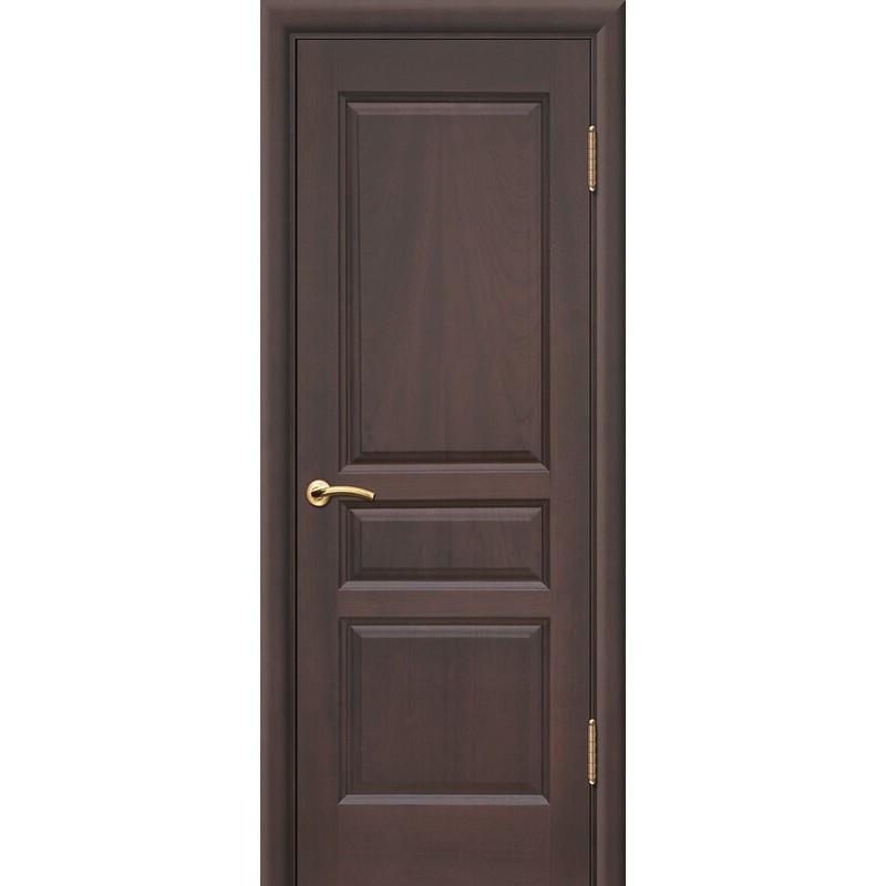 Ульяновская дверь Яшма красное дерево тёмное ДГ