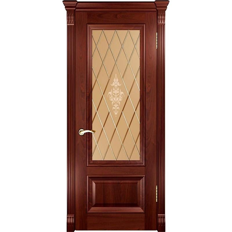 Ульяновская дверь Фараон-1 красное дерево ДО