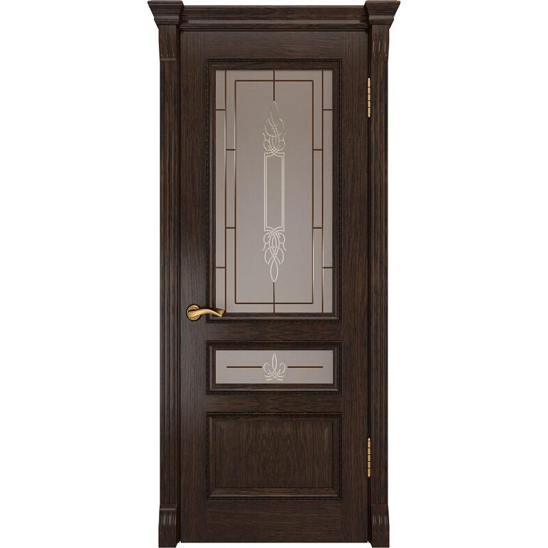 Ульяновская дверь Фемида-2 морёный дуб ДО