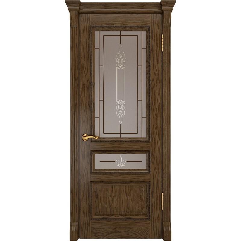 Ульяновская дверь Фемида-2 светлый морёный дуб ДО