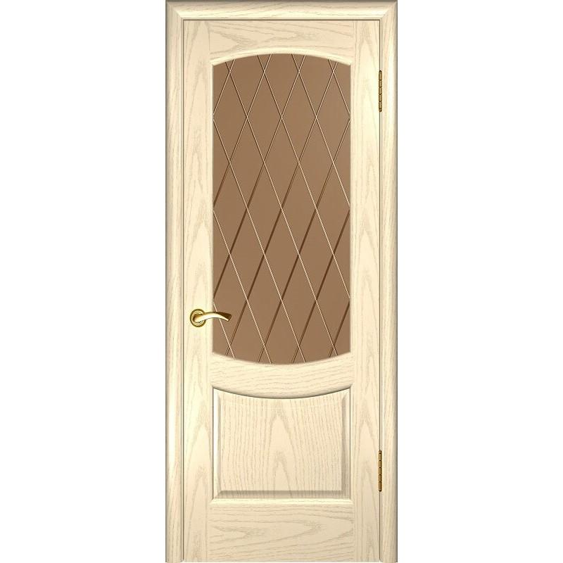 Ульяновская дверь Лаура-2 слоновая кость ДО