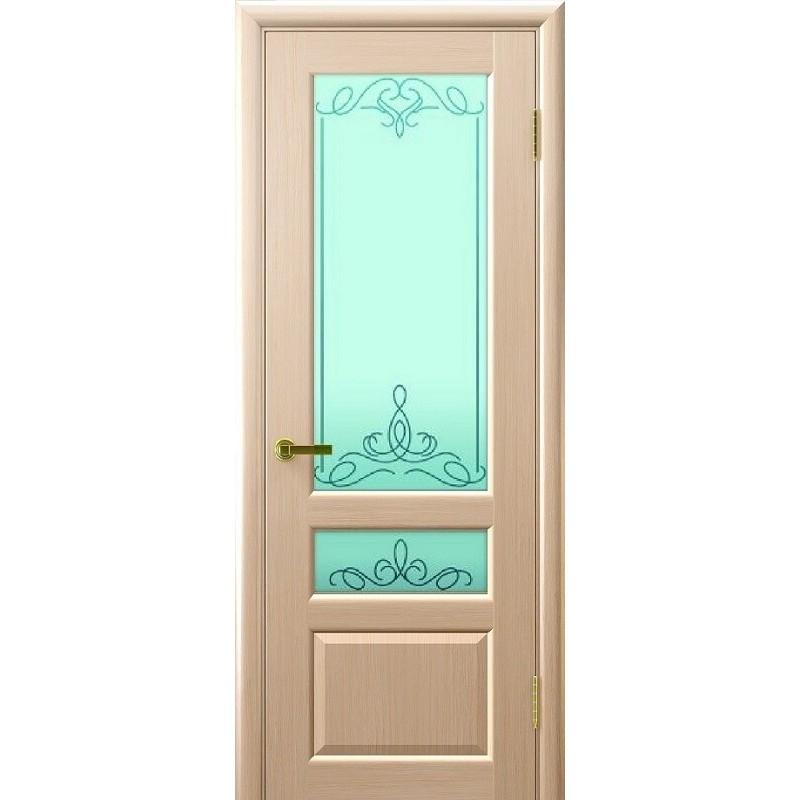 Ульяновская дверь Валентия-2 белёный дуб ДО