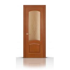 Дверь СитиДорс модель Александрит цвет Анегри темный стекло