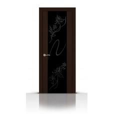 Дверь СитиДорс модель Бриллиант цвет Венге триплекс чёрный