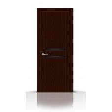 Дверь СитиДорс модель Турин-2 цвет Ясень шоколад триплекс чёрный