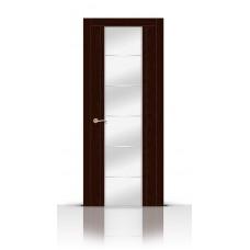 Дверь СитиДорс модель Виконт цвет Ясень шоколад зеркало