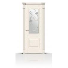 Дверь СитиДорс модель Элеганс-1 цвет Ясень белый стекло Очарование