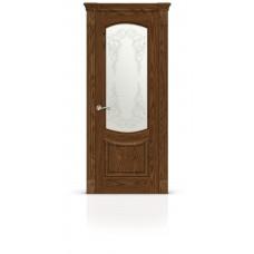 Дверь СитиДорс модель Калисто цвет Дуб морёный стекло