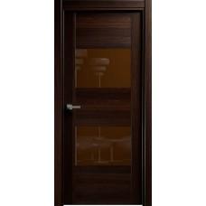 Дверь Status Versia модель 221 Орех стекло лакобель коричневый