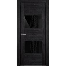Дверь Status Versia модель 221 Дуб чёрный стекло лакобель чёрный