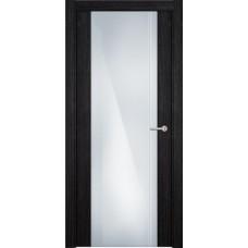 Дверь Status Futura модель 331 Дуб чёрный стекло калёное с гравировкой