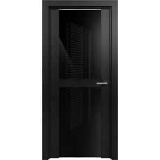 Дверь Status Trend модель 422 Дуб чёрный стекло лакобель чёрный