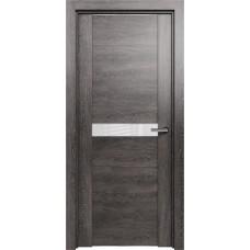 Дверь Status Trend модель 411 Венге пепельный стекло лакобель белый