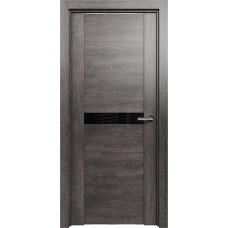 Дверь Status Trend модель 411 Венге пепельный стекло лакобель чёрный