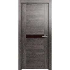 Дверь Status Trend модель 411 Венге пепельный стекло лакобель коричневый