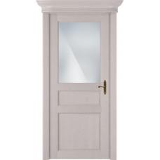 Дверь Status Classic модель 532 Дуб белый стекло Сатинато белое