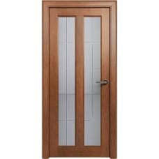 Дверь Status Fusion модель 612 Анегри стекло калёное с гравировкой