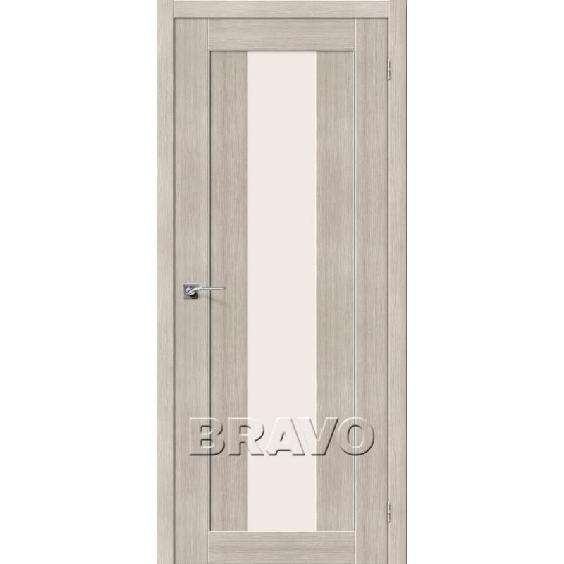 Межкомнатная Дверь Экошпон Порта-25 alu Cappuccino Veralinga