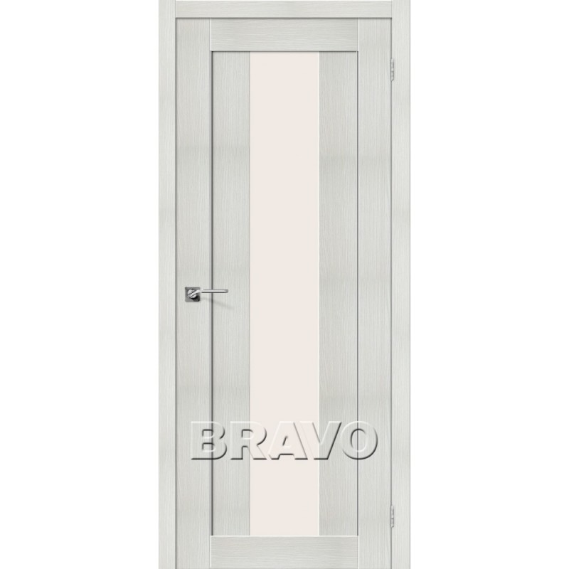 Межкомнатная Дверь Экошпон Порта-25 alu Bianco Veralinga