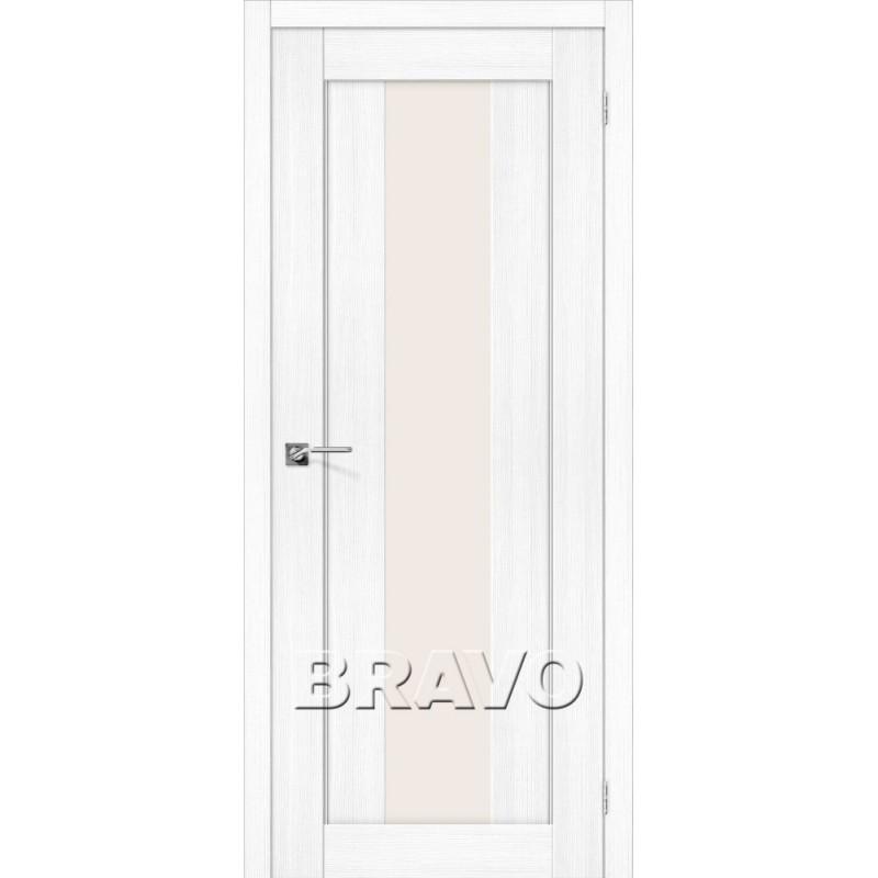 Межкомнатная Дверь Экошпон Порта-25 alu Snow Veralinga