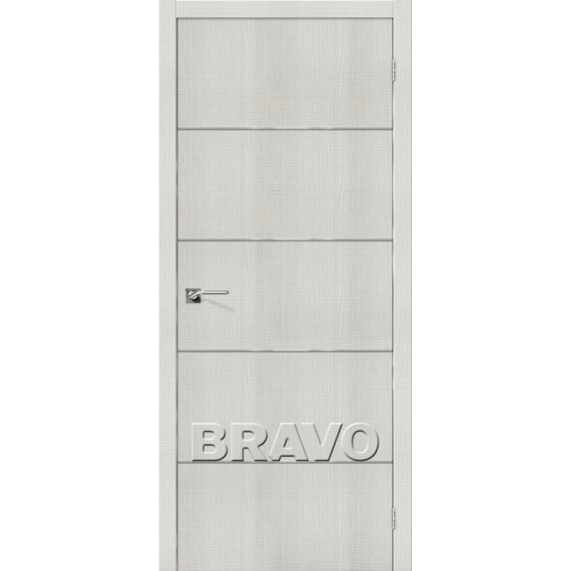 Межкомнатная Дверь Экошпон Порта-50 A6 Bianco Crosscut
