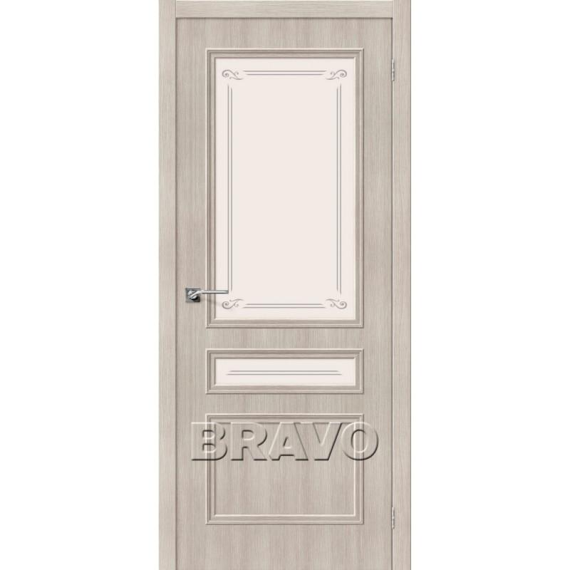 Межкомнатная Дверь Экошпон Симпл-15-2 Cappuccino Veralinga