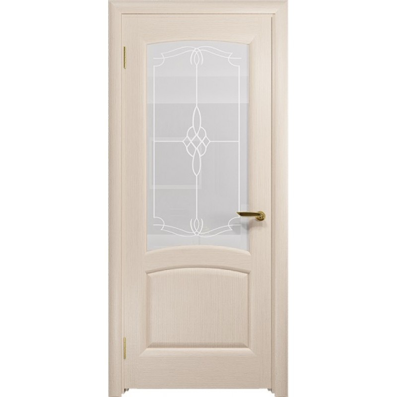 Межкомнатная Дверь DioDoor Ровере беленый дуб белое пескоструйное Корено