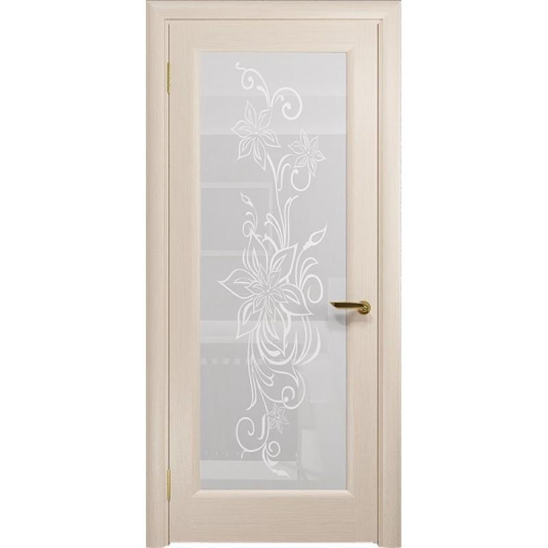 Межкомнатная Дверь DioDoor Миланика-1 беленый дуб белое пескоструйное Миланика