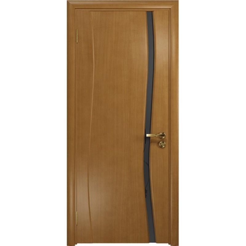 Межкомнатная Дверь DioDoor Грация-1 анегри черный триплекс Вьюнок матовый